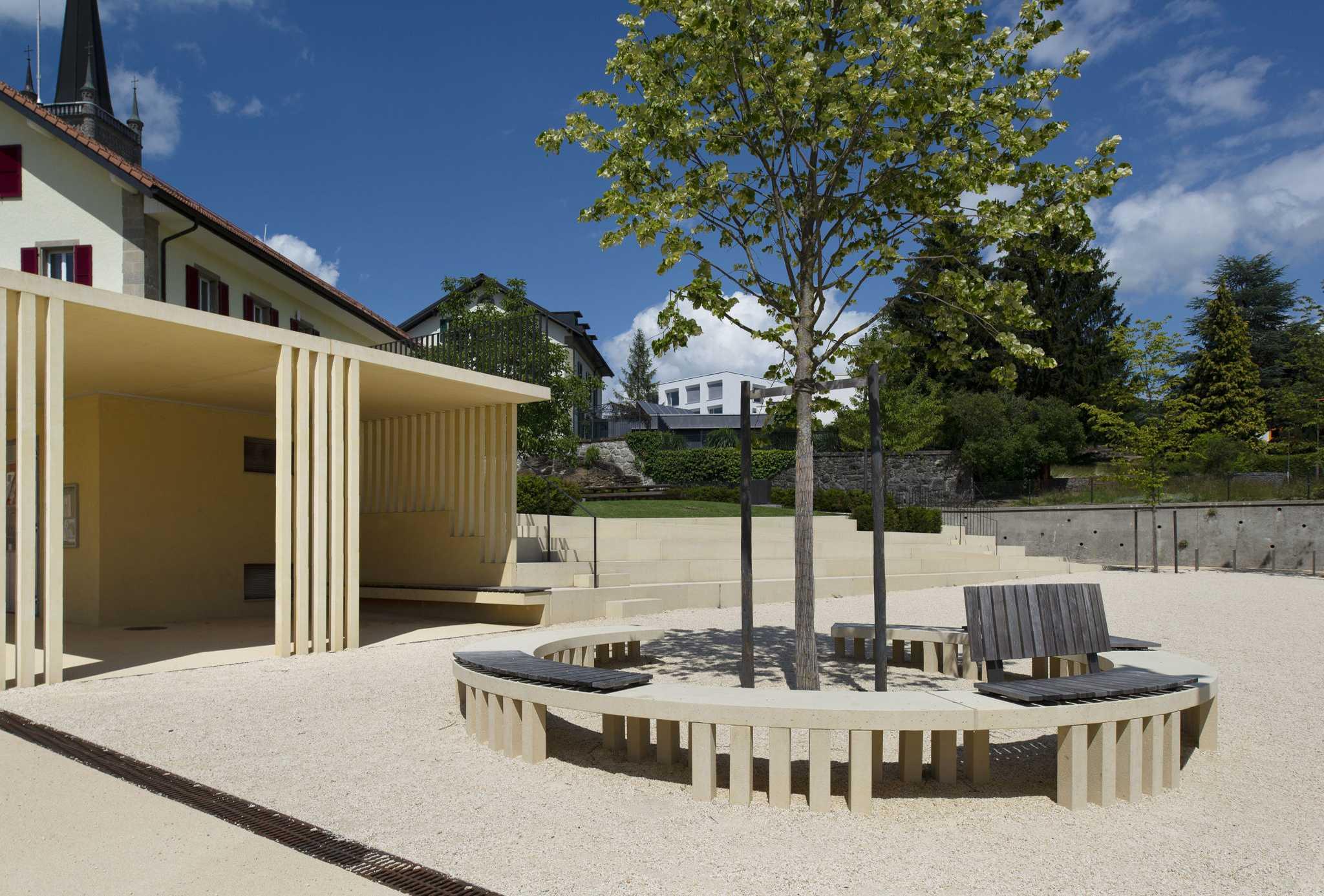 Espace public au centre du village d'Attalensfarra zoumboulakis & associés architectes urbanistes